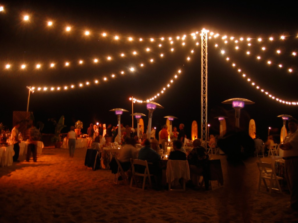 beach string lights from freestanding truss tower bella vista designs