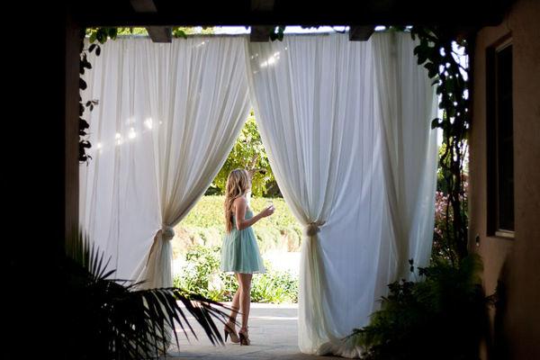 Fabric doorway curtains - Catalog Gt Fabric Treatments Gt Off White Chiffon Doorway Drape