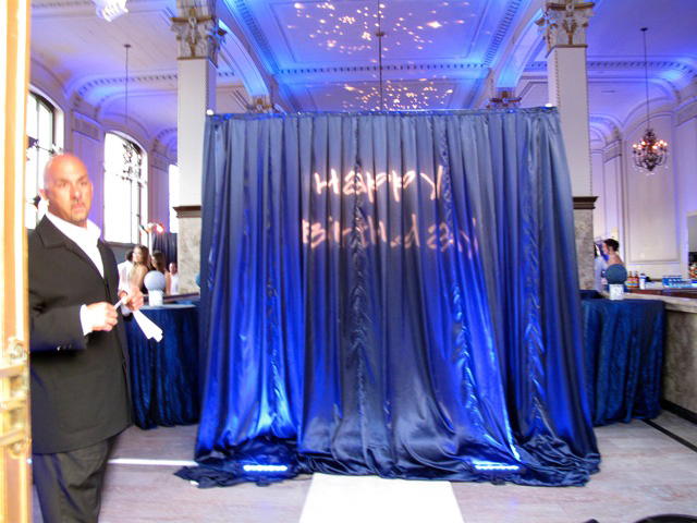 Blue Satin Curtains